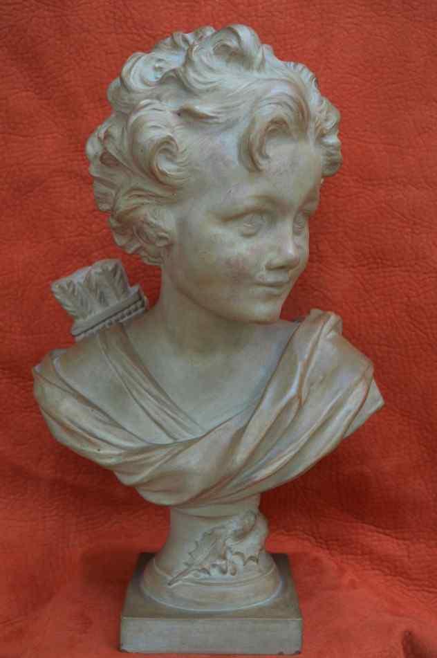 Argilla Agathon Léonard, Busto di Cupido.