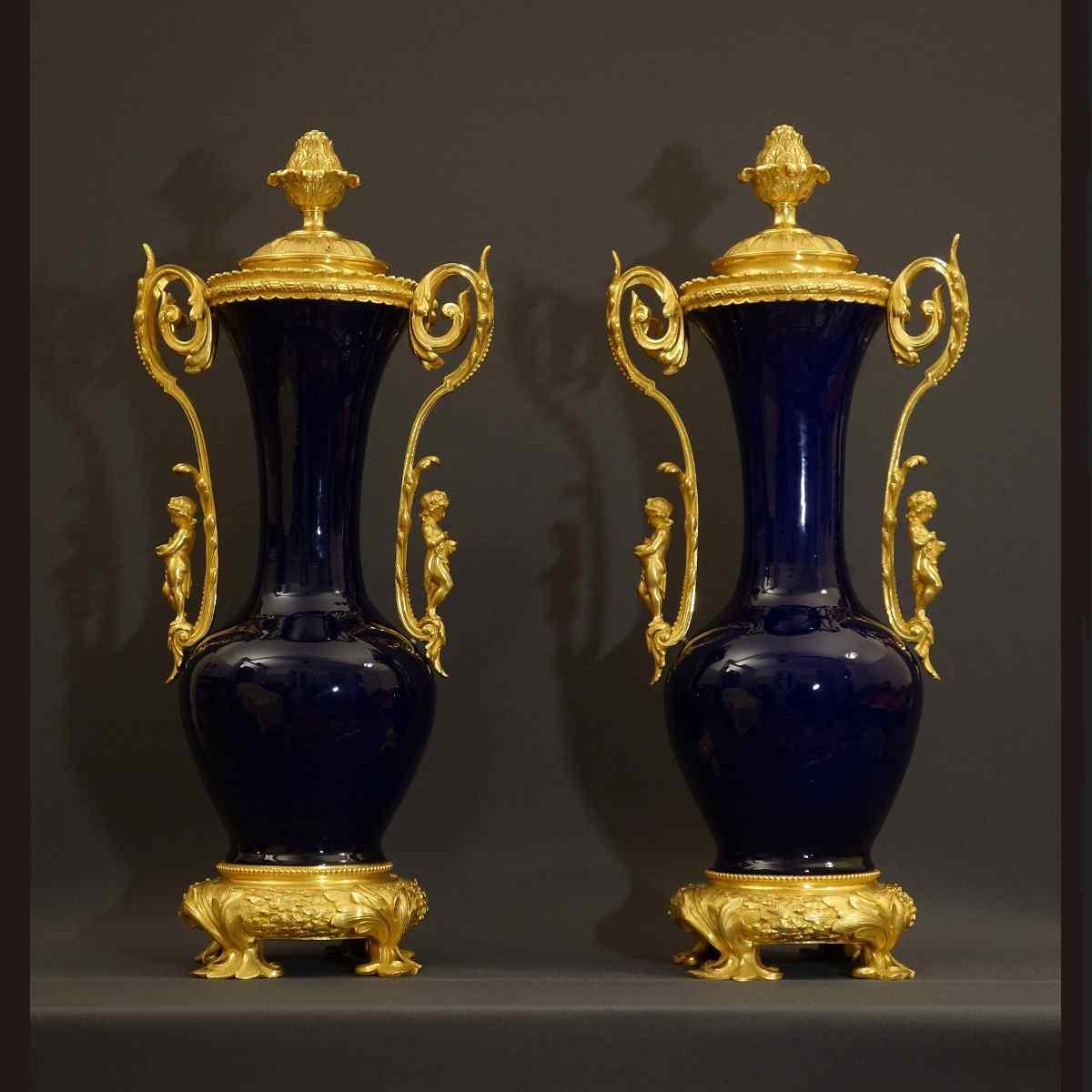 Pair Of Grands Vases XIXth