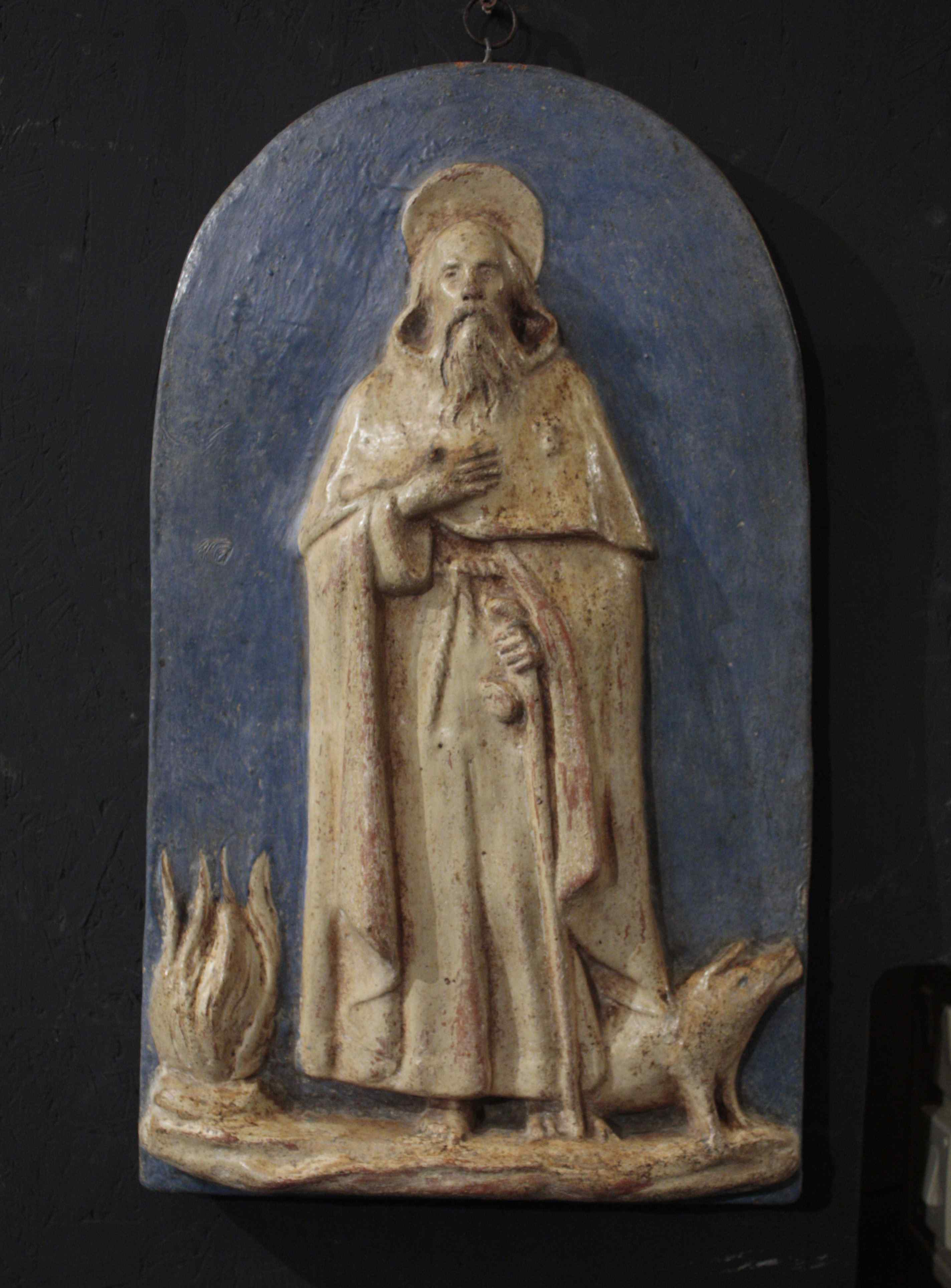 Sculpture abbé Saint-Antoine