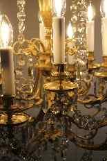 Lustre en bronze et cristal de Baccarat, milieu du XIXe sièc-9