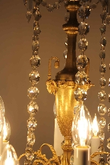 Lustre en bronze et cristal de Baccarat, milieu du XIXe sièc-1