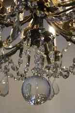 Lustre en bronze et cristal de Baccarat, milieu du XIXe sièc-12