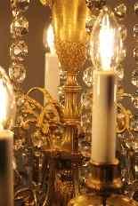 Lustre en bronze et cristal de Baccarat, milieu du XIXe sièc-11