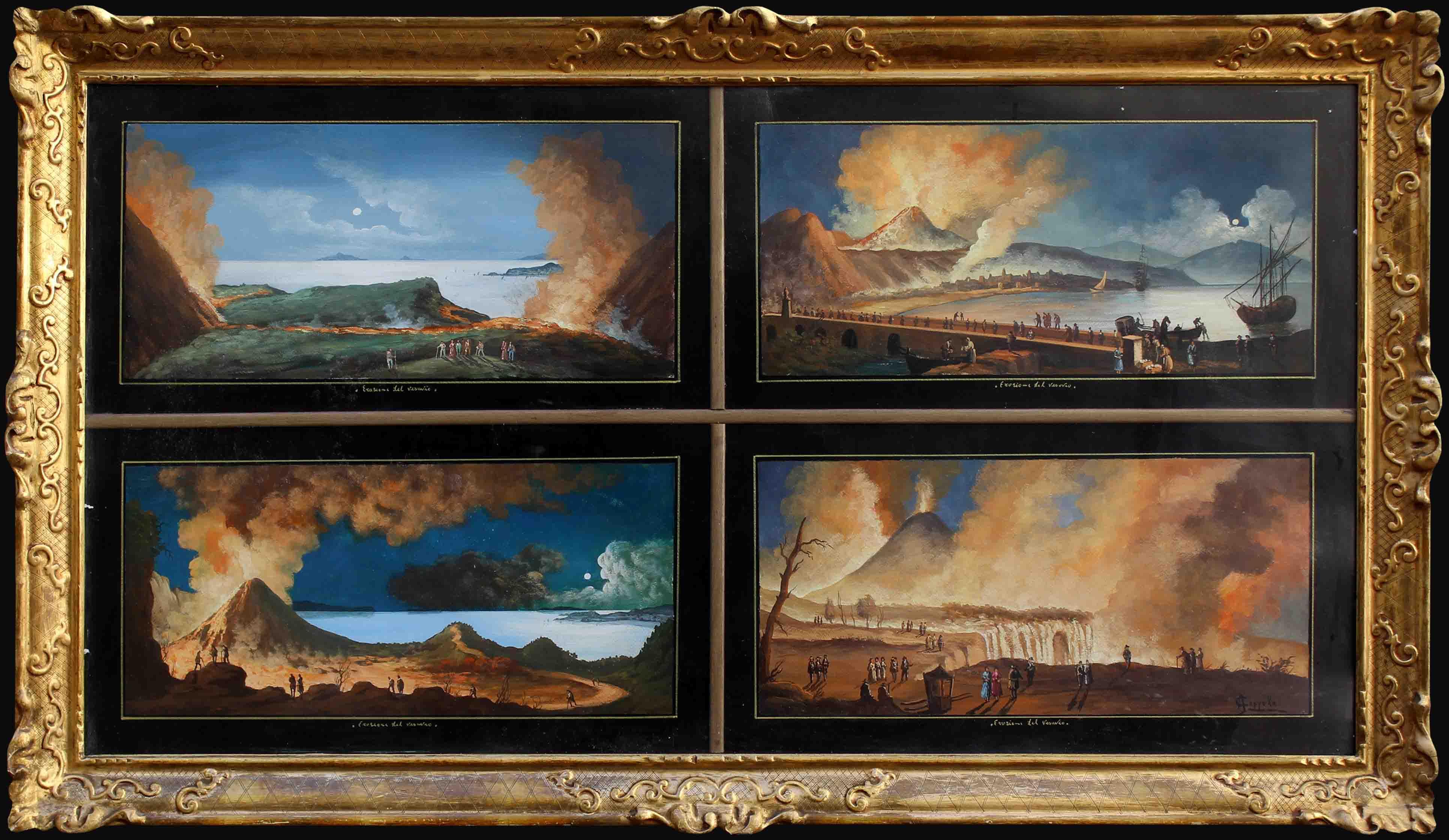 Antonio Coppola (1850-1902) éruptions du Vésuve