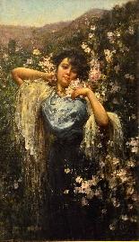 Salvatore Postiglione (Naples 1861-1906), La Printemps-1
