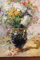 Oil on canvas Bouquet Of Flowers By Euler-5