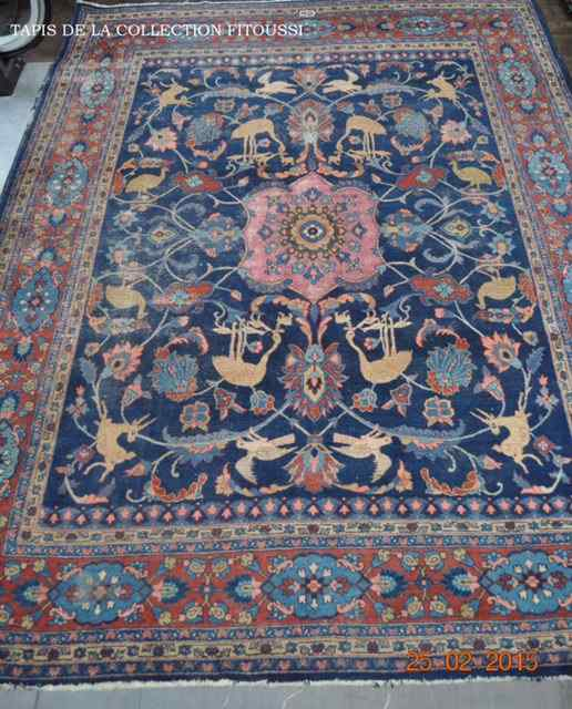 GRAND TAPIS IRAN MAHAL SIGNE DEBUT XXEME SIECLE