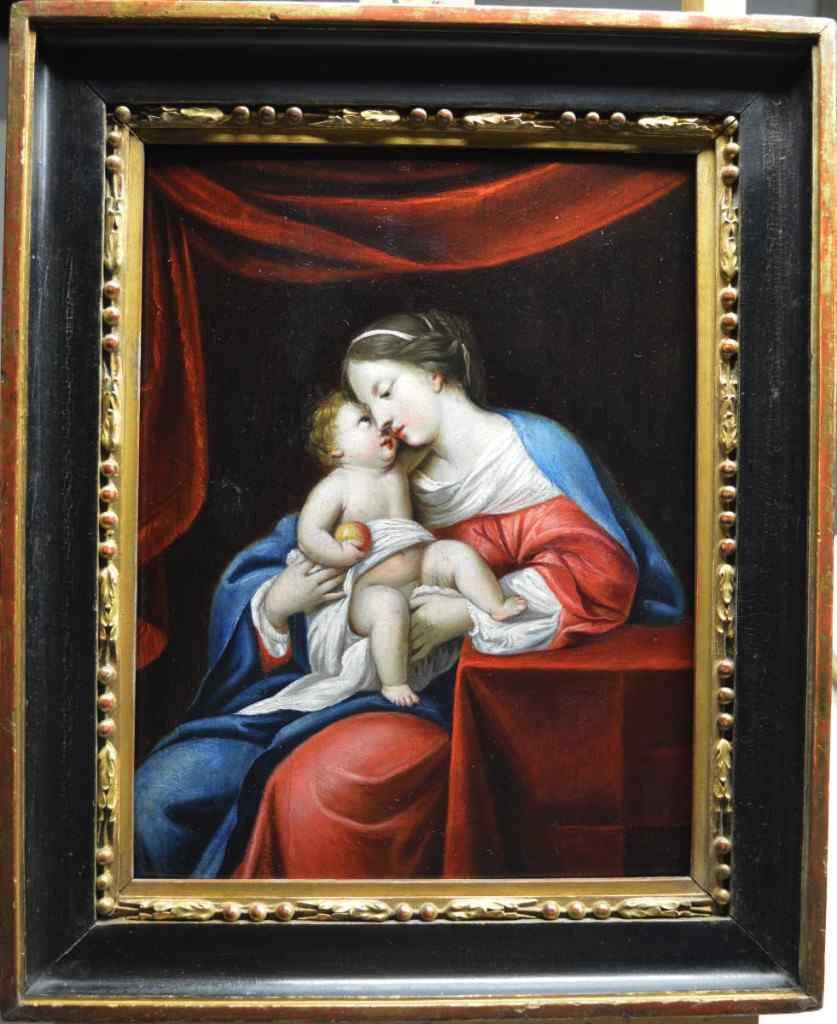 Attribuito a Jacques Stella (1596-1657). Vergine con il Bamb