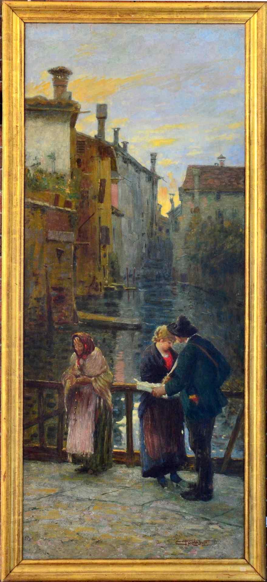 Carlo C. Tagliabue (Milano 1880 - 1960), Veduta dei Navigli