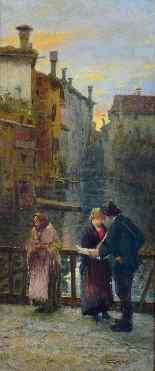 Carlo C. Tagliabue (Milano 1880 - 1960), Veduta dei Navigli-5