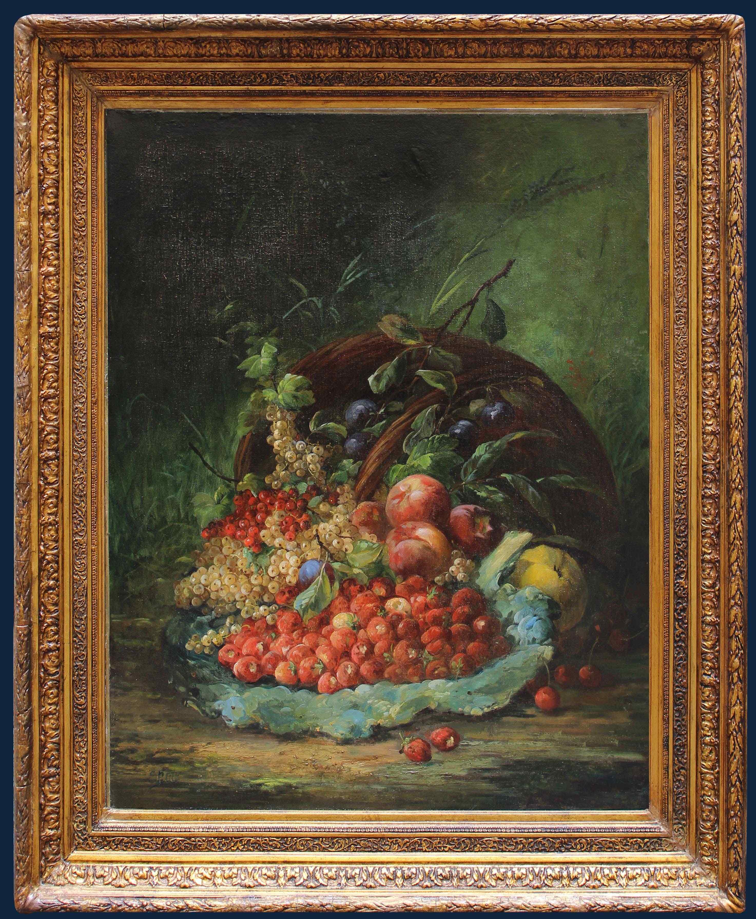 Eugène Petit (1839 - 1886), Natura morta con frutta
