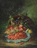 Eugène Petit (1839 - 1886), Still Life with Fruit-1