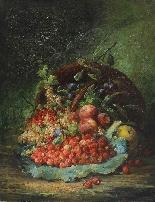 Eugène Petit (1839 - 1886), Natura morta con frutta-1