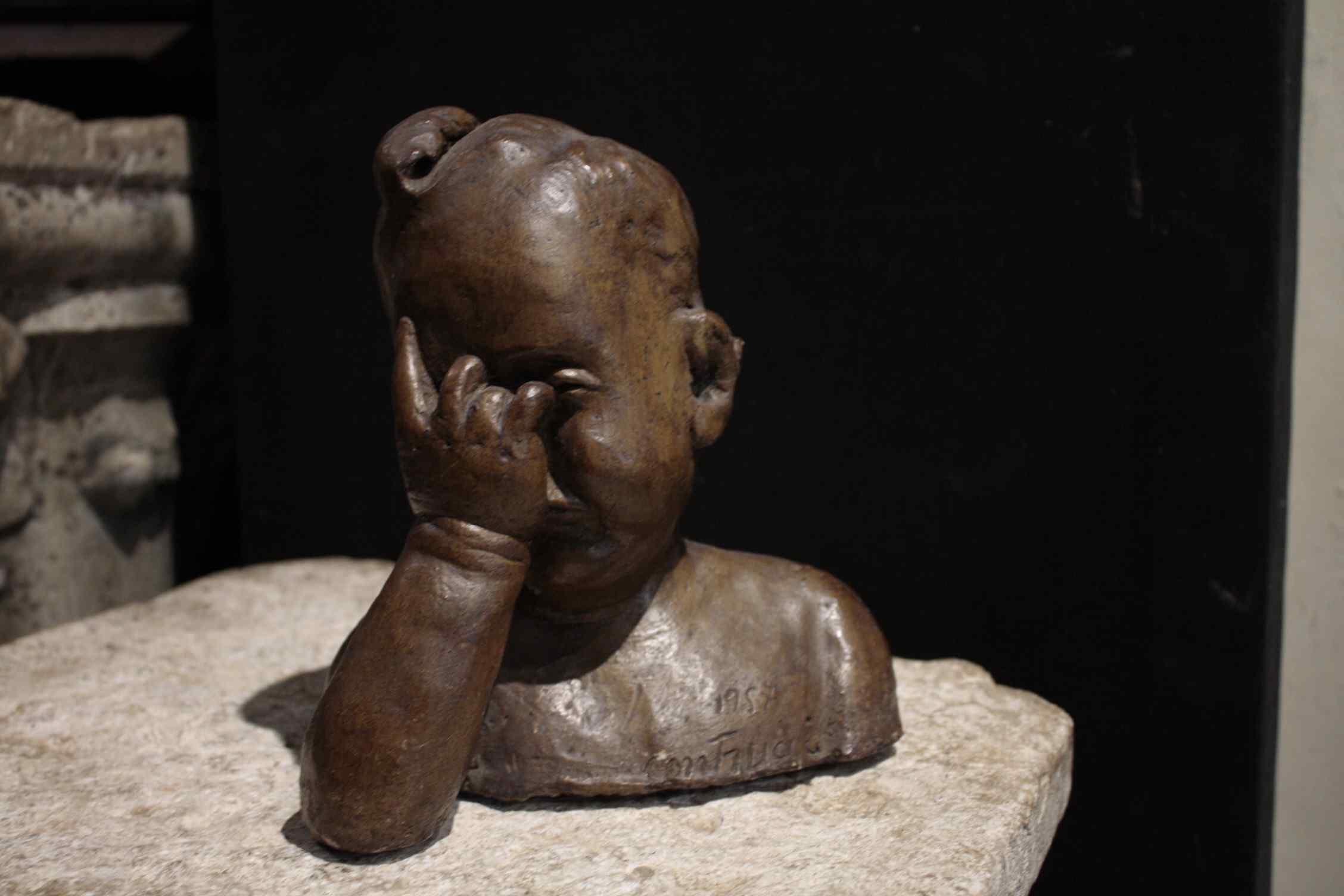 Bronze terracotta sculpture