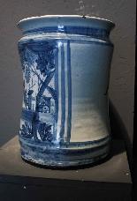 Grande albarello carrelage Savona sec. XVIII-4