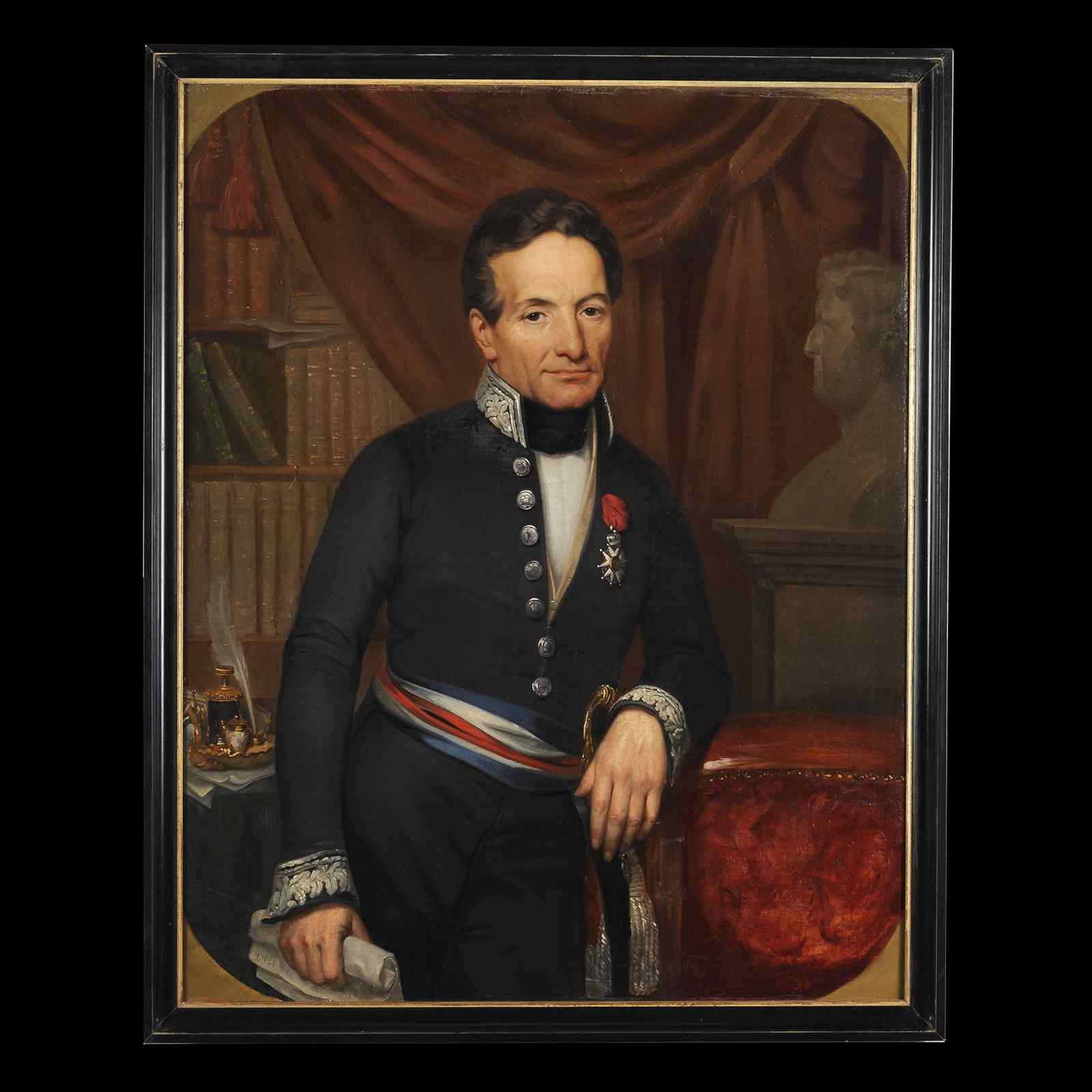 Portrait d'un Préfet français 1842 - Ecole française du XIXe
