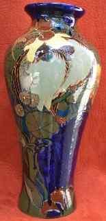 Paire De Vases Rozenburg Den Haag, Art Nouveau.-5
