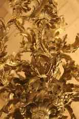 Important lustre rocaille en bronze à 30 feux, XIXe siècle-19
