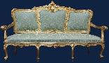 XIX secolo, Salotto con divano e quattro sedie-1