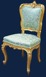 XIX secolo, Salotto con divano e quattro sedie-2