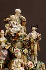 Molto importante gruppo porcellana Wallendorf Medio XVIIIè-2
