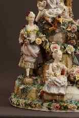 Molto importante gruppo porcellana Wallendorf Medio XVIIIè-1