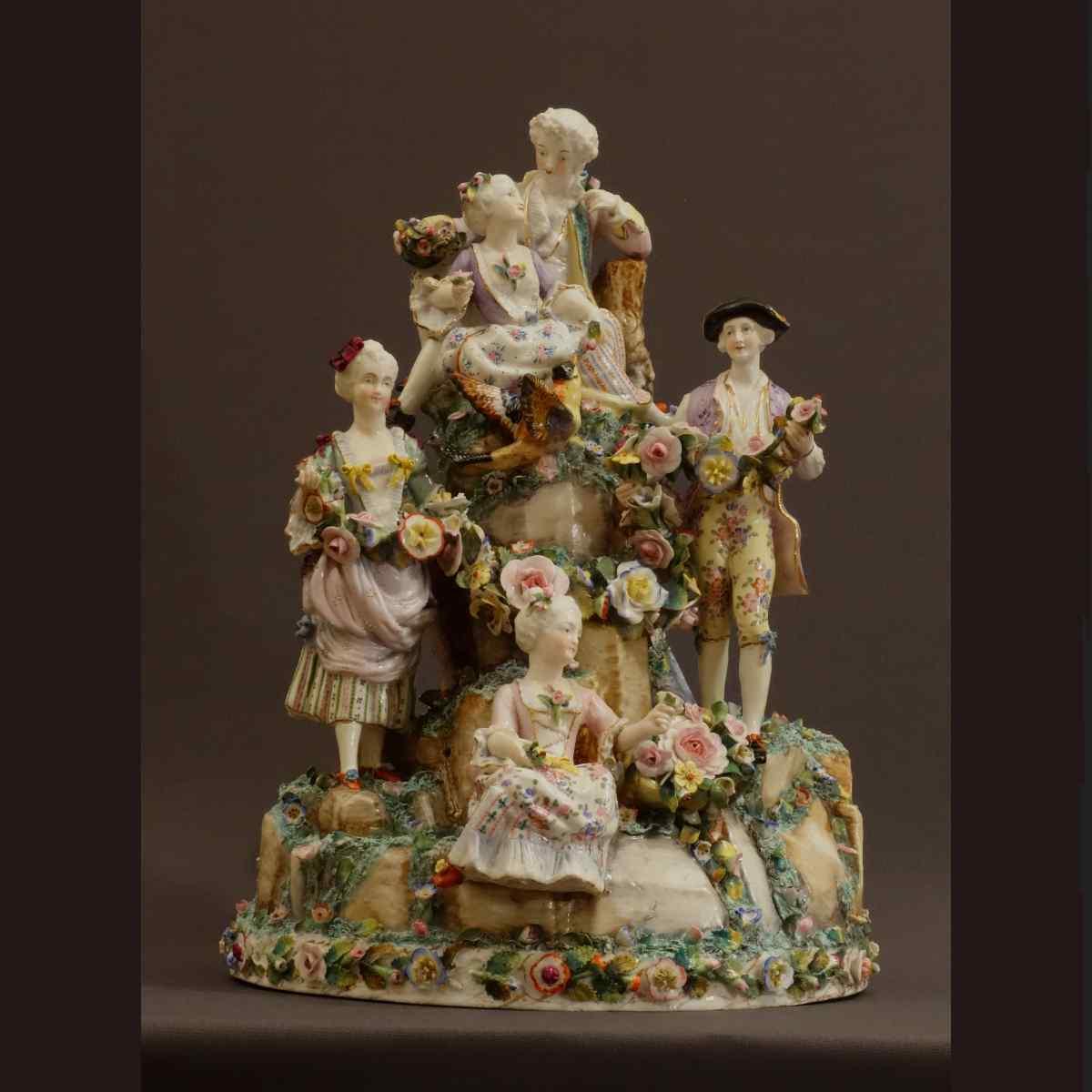 Molto importante gruppo porcellana Wallendorf Medio XVIIIè