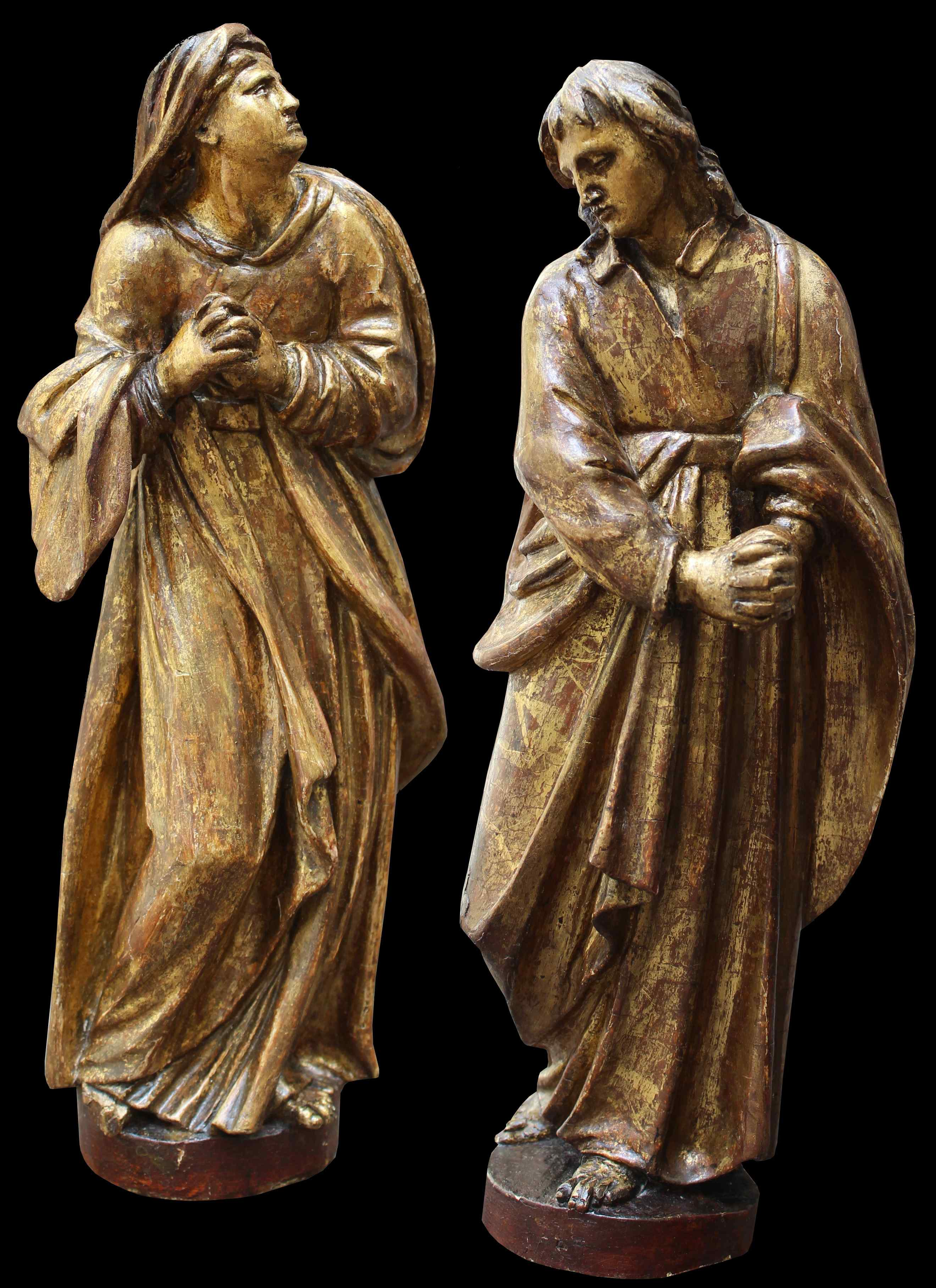 Fin du XVIe siècle, la Vierge et saint Giovanni Evangelista,