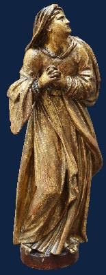 Fin du XVIe siècle, la Vierge et saint Giovanni Evangelista,-1