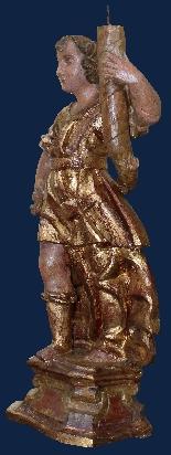 Inizio XVII secolo, Angeli reggicero, Legno policromo e oro-4