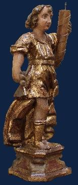 Начало семнадцатого века, Ангелы, Polychrome дерево и золото-3