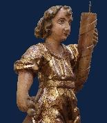 Inizio XVII secolo, Angeli reggicero, Legno policromo e oro-5