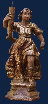 Inizio XVII secolo, Angeli reggicero, Legno policromo e oro-2