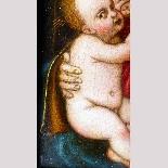 Madonna con Bambino, tavola del '500,ambito Marco D'Oggiono-7