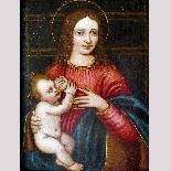 Madonna con Bambino, tavola del '500,ambito Marco D'Oggiono-1