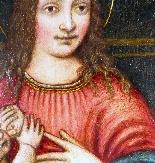 Madonna con Bambino, tavola del '500,ambito Marco D'Oggiono-3