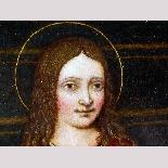 Madonna con Bambino, tavola del '500,ambito Marco D'Oggiono-2