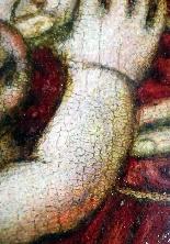Madonna con Bambino, tavola del '500,ambito Marco D'Oggiono-8