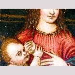 Madonna con Bambino, tavola del '500,ambito Marco D'Oggiono-5