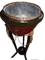 Decorazione impero con bronzi dell'800 francese-5