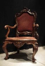 Trois chaises vénitiennes Sec. XVIII-1