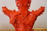 Great Red Coral Vase China XIXth Century-1
