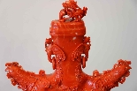 Great Red Coral Vase China XIXth Century-2
