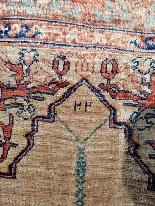 Adjajhiji Tabriz Seta firmate - Iran 19 ° secolo-5