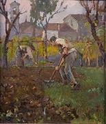 Giuseppe Mascarini (1877-1954) - Small vegetable garden-1