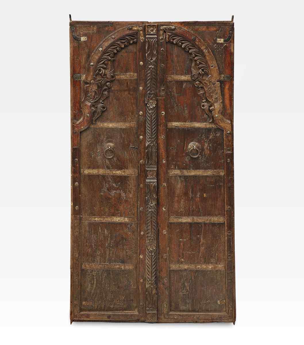 Porta indiana epoca Moghul legno di teak