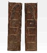 Porta indiana epoca Moghul legno di teak-1