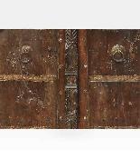 Porta indiana epoca Moghul legno di teak-2