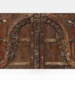 Porta indiana epoca Moghul legno di teak-3