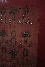 Panneau brodé de fil d'argent-1